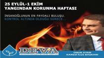 Başkan Ayan'dan Şeytan Sofrası Yangını ve Yangından Korunma Haftası İle ilgili Basın Açıklaması